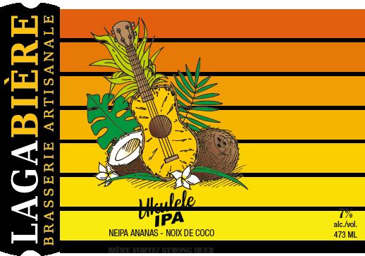 étiquette Ukulele ananas coconut