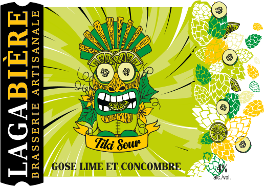 étiquette Tiki Gose lime et concombre