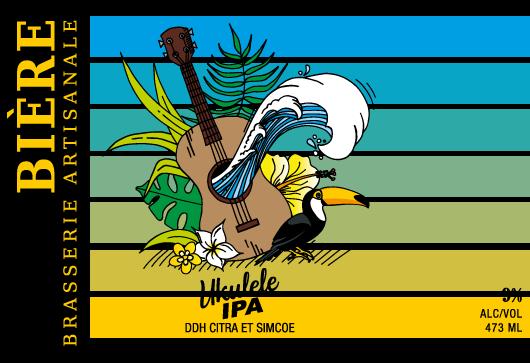 étiquette Ukulélé IPA : NEIPA DDH Citra & Simcoe