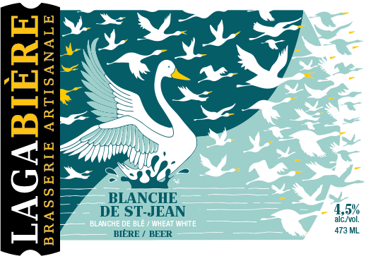 étiquette Blanche de St-Jean / SAQ