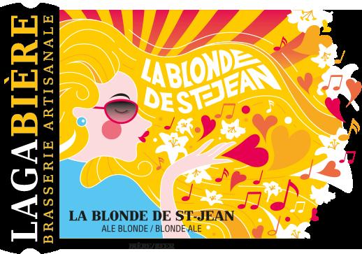 étiquette La Blonde de St-Jean / SAQ